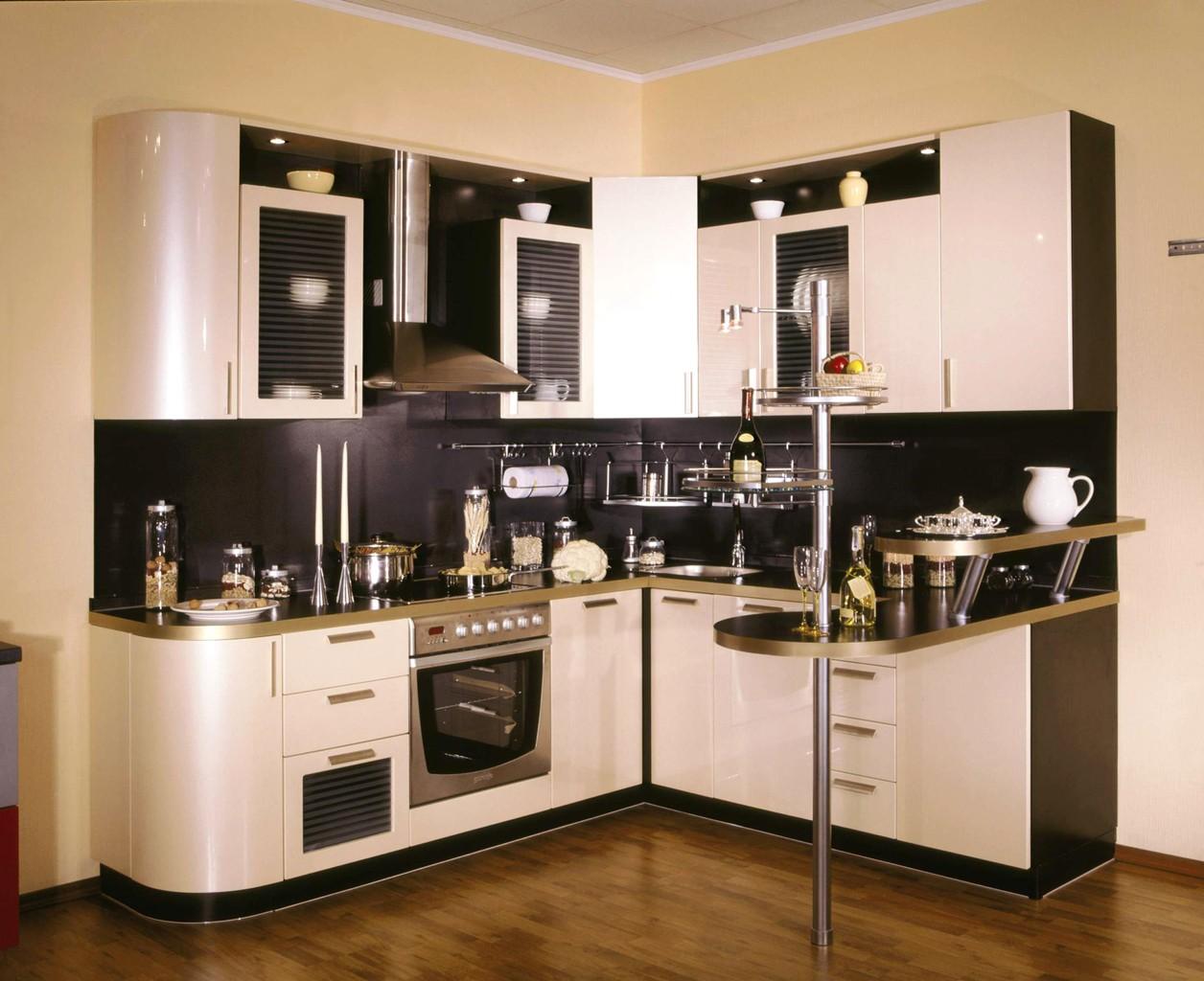 Угловая кухня с барной стойкой 49 фото дизайн маленького кухонного гарнитура выбираем небольшие г-образные кухни для квартиры-студии