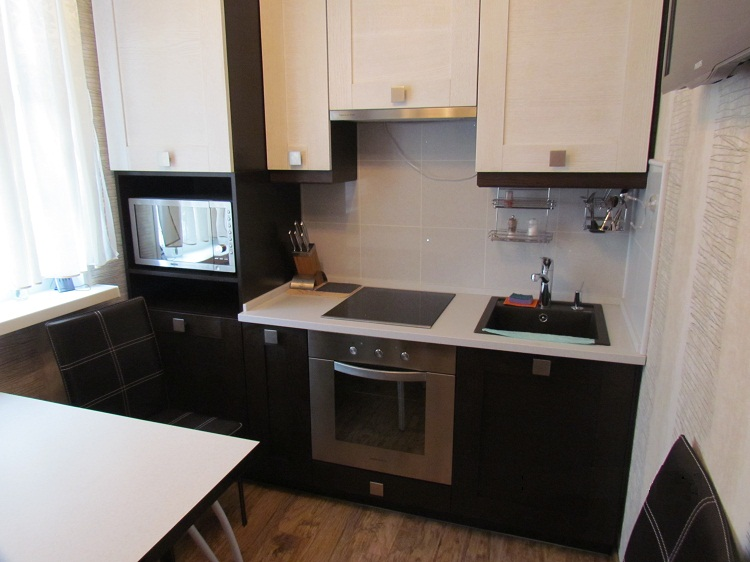 прямая кухня 70 реальных фото примеров интерьера кухни