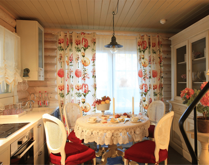 Интерьер кухня на даче фото