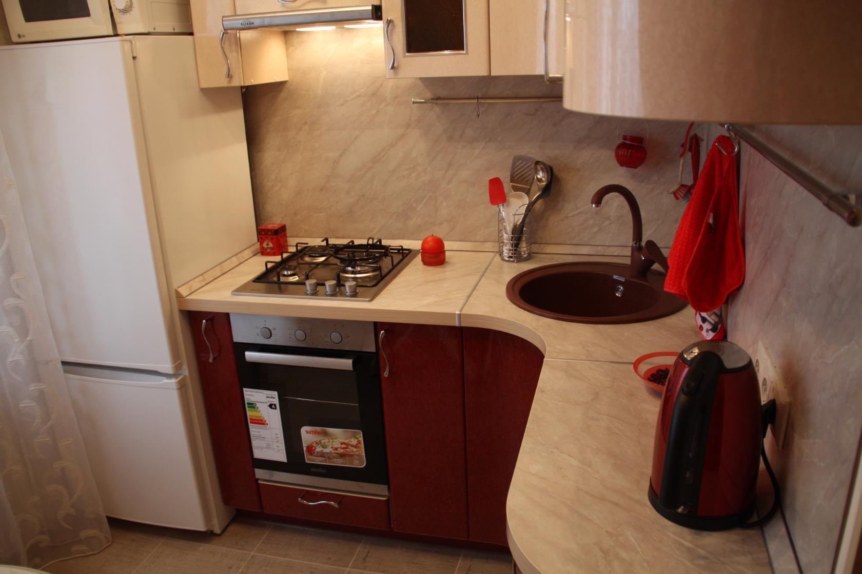 Как сделать кухню на 6 кв м фото