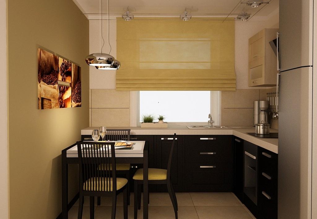 Дизайн кухни 2на 4 метра.