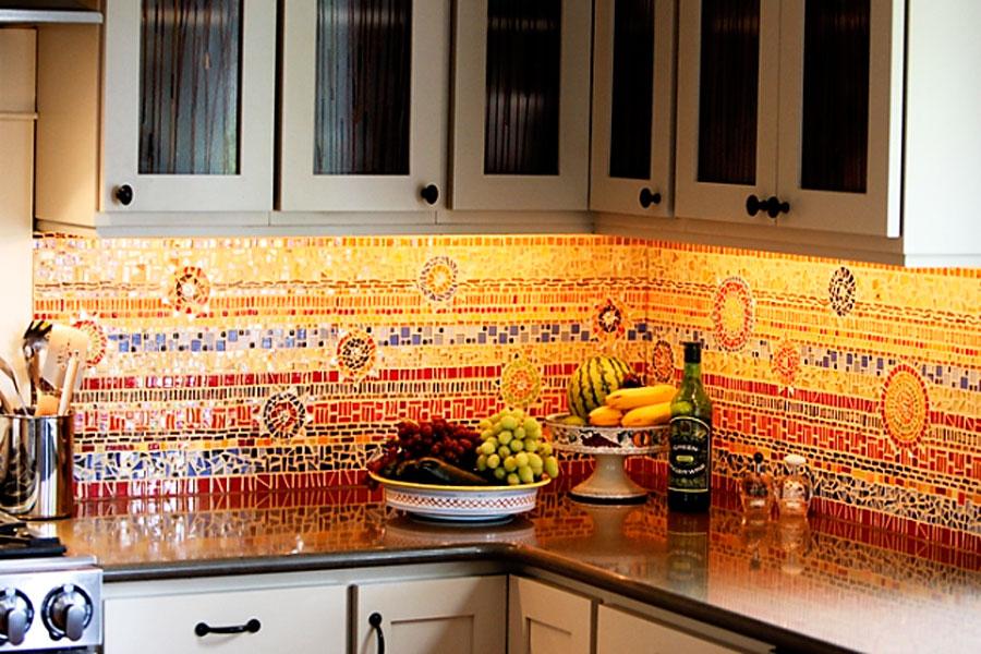 Плитка для фартука кухни своими руками
