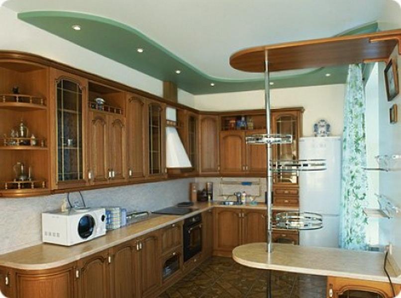 Делаем потолок на кухне своими руками