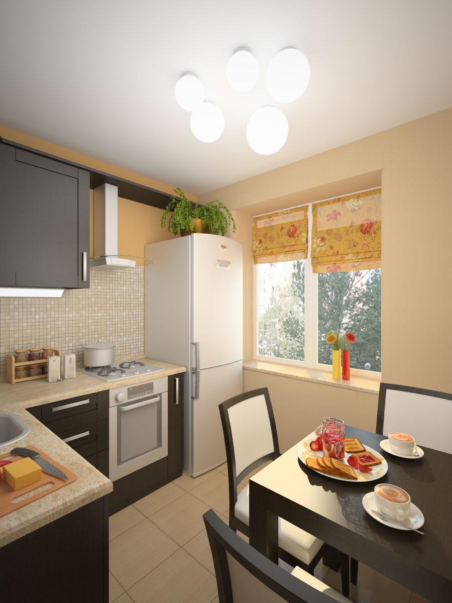 Интерьер кухни 6 кв метров фото