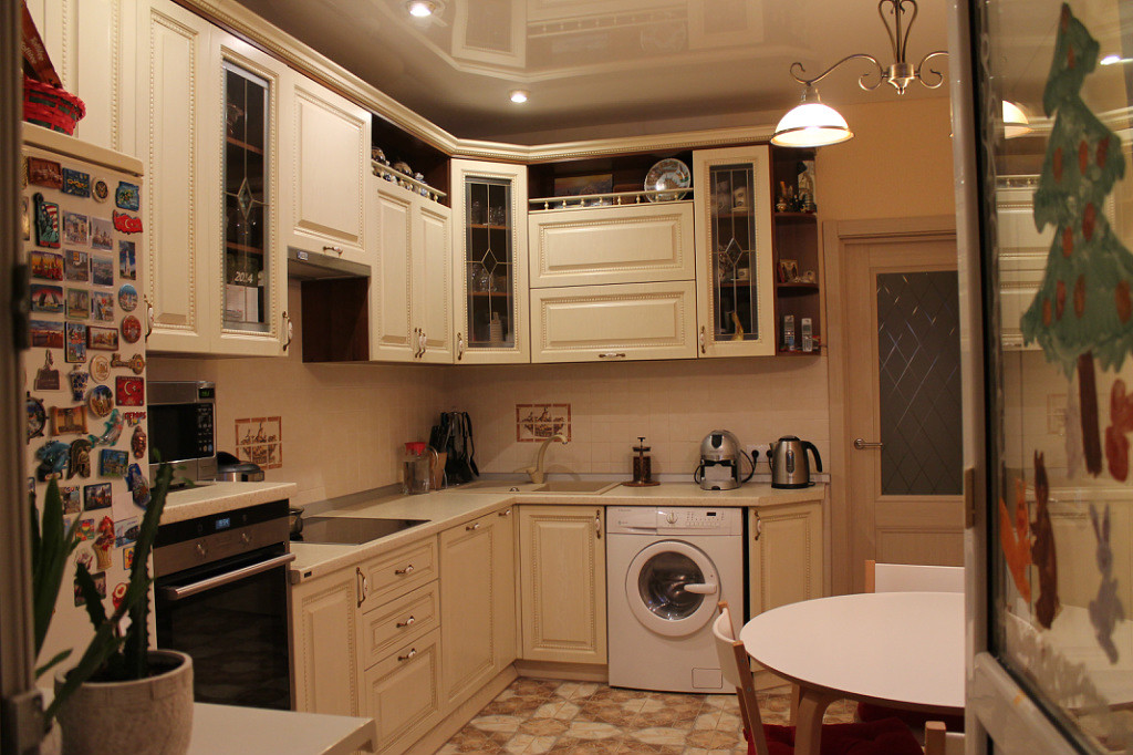 Интерьеры классических кухонь реальные фото
